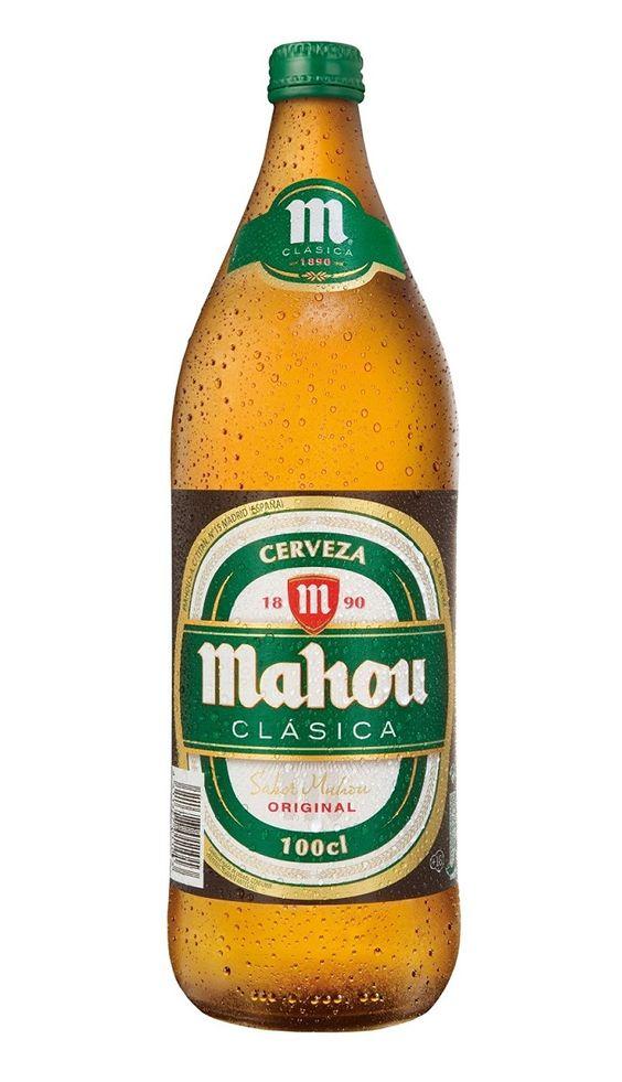 Mahou Clásica 100 cl, Pale Lager 4,8% ABV (Mahou San Miguel, España)