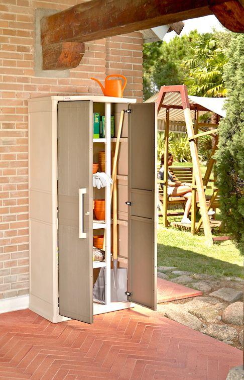 Lo mejor para guardar tus utensilios de jardiner a o - Leroy merlin armarios de resina ...