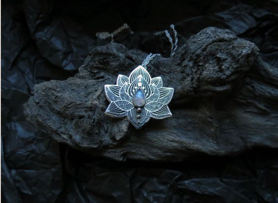 Hey, I found this really awesome Etsy listing at https://www.etsy.com/listing/207989813/lotus-pendant-water-lily-necklace-silver