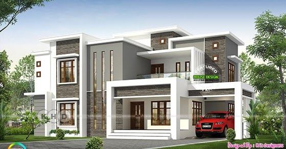 2496 Sq Ft Flat Roof Modern Contemporary Kerala House In 2020