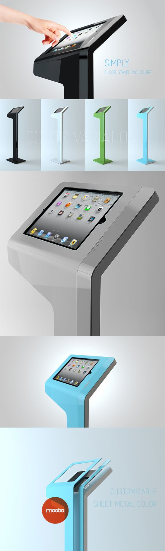 Ipad Exhibition Stand Hire : Moveon ipad enclosure for moobo product pinterest