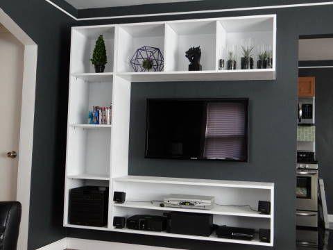 interior design shelves - Floating entertainment center, ntertainment center and Diy ...