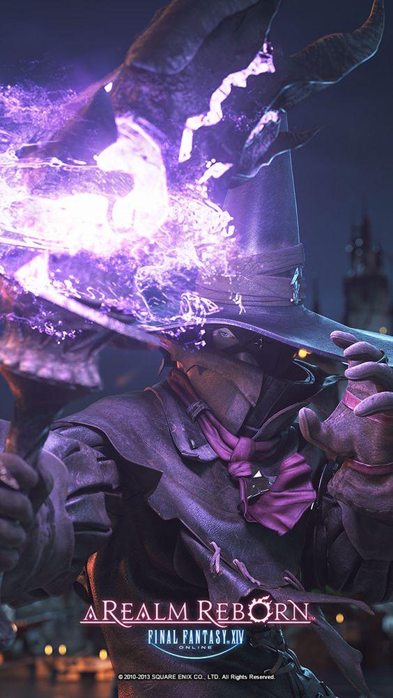 Final Fantasy XIV: A Realm Reborn - Elezen Black Mage CG ...