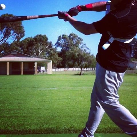 Powerful And Accurate Contact Laser Power Swing Trainer Swing Trainer Baseball Swing Baseball Hitting