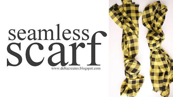 seamless scarf - no sew
