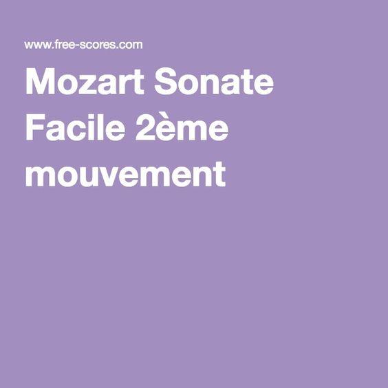 Mozart Sonate Facile 2ème mouvement