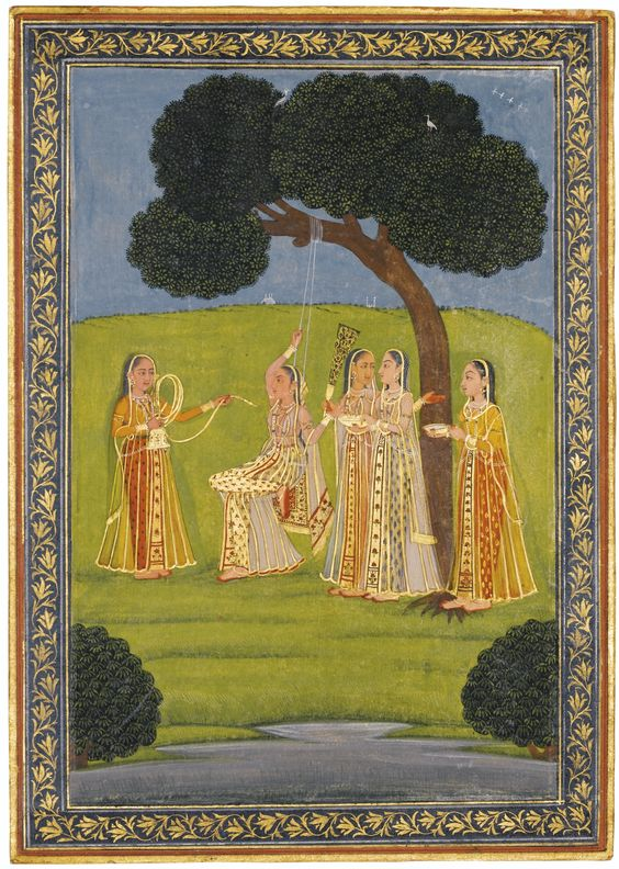 Princess Relaxing India, Deccan Hayderabad 1780