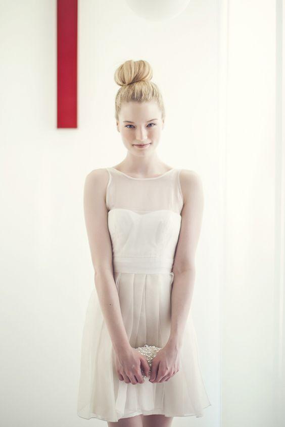 Ciarla Bride Cheri Dress, photo by Studio Uma | via junebugweddings.com #shortweddingdress