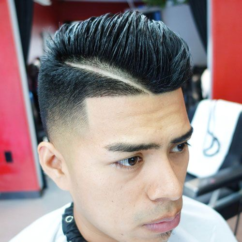 Low Bald Fade With Design And Messy Spiked Hair Haircuts For Men Cool Short Hairstyles Mens Haircuts Short