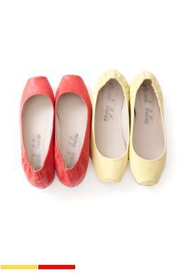Pastel Square Toe Ballet Flats from 2fbonline.com // $25.00
