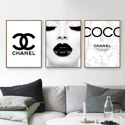 Fashion Set Of 3 Black And White Inspired By Coco Chanel Quote Fashion Typography Gallery Wall Art Print Picture Poster 41 Chanel Wall Art Chanel Room Fashion Wall Art