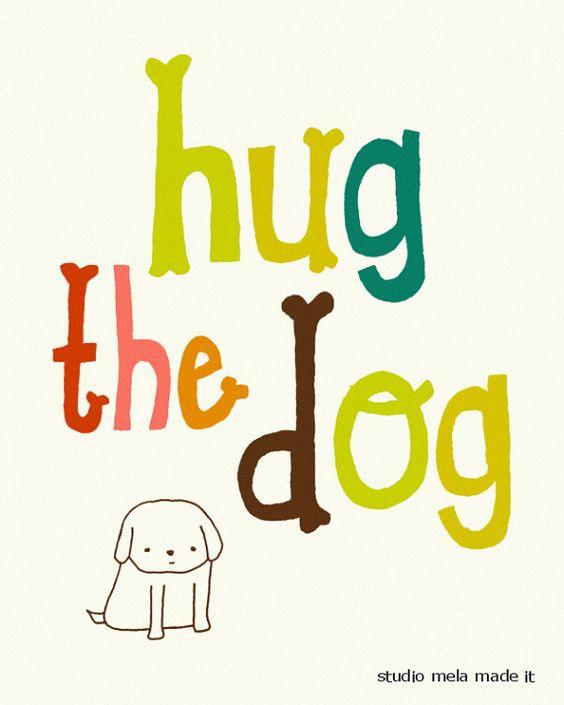 Typographic Art Print love your dog dog art print di dazeychic