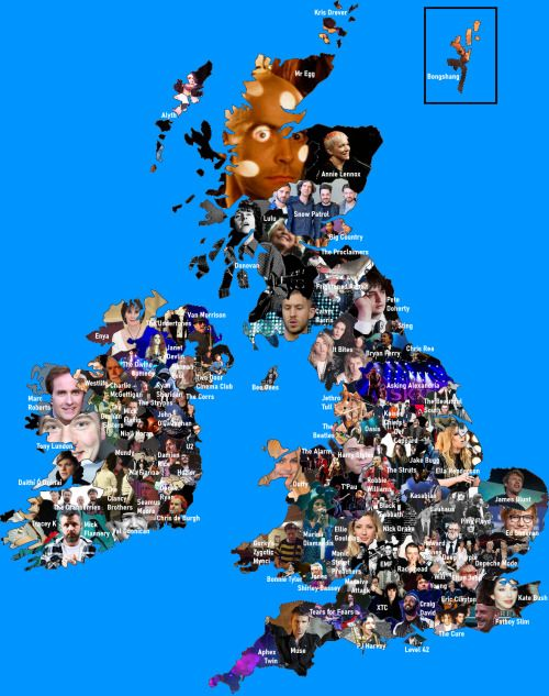 Most Famous Artist Or Band From Every Uk Irish County In 2020 British Music Most Famous Artists Irish Counties