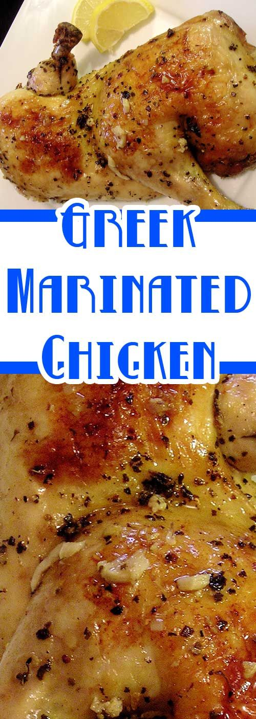Recipe for Greek Marinated Chicken - The marinade takes just a few minutes to stir together and creates an absolute explosion of flavor. It's incredible.