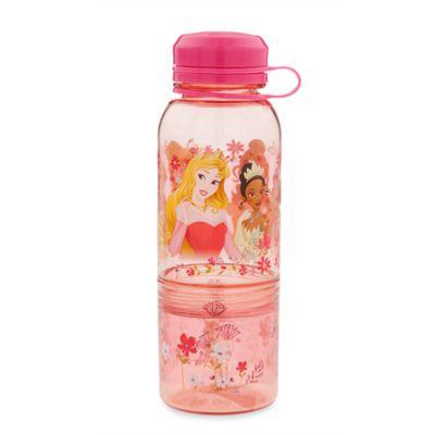 Auf dieser schönen Flasche sind Schneewittchen, Tiana, Belle, Aurora und Cinderella zu sehen.  Perfekt für eine Erfrischung für deine kleine Prinzessin. In der praktischen aufgeschraubten Dose kannst du leckere Snacks aufbewahren.