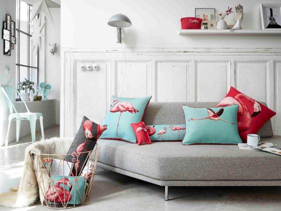 flamant rose ananas et palmiers la floride s 39 invite dans la d co miami turquoise et plages. Black Bedroom Furniture Sets. Home Design Ideas