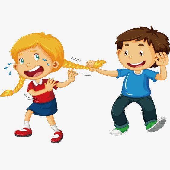 أطفال تهريجية قصاصات فنية يقاتل طفل صغير Png والمتجهات للتحميل مجانا In 2020 Kids Fighting Cartoon Character Design School Cartoon