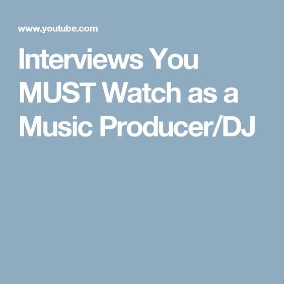 Interviews You MUST Watch as a Music Producer/DJ