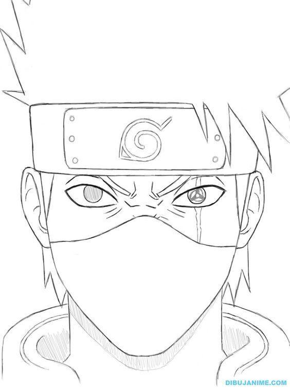 Naruto Kakashi Coloring Page Google Search In 2020 Naruto Drawings Easy Naruto Drawings Naruto Sketch