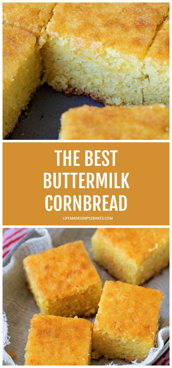 The Best Buttermilk Cornbread Video Life Made Simple Recipe Buttermilk Recipes Sweet Cornbread Buttermilk Cornbread