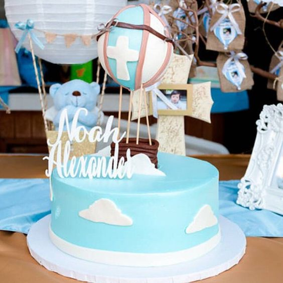 How cute is this baptism party featuring on of our custom cake toppers?!!