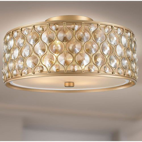 251 First Vivian Silver Gold Two Light Semi Flush Mount With Crystal Accents With Images Flush Mount Ceiling Lights Semi Flush Ceiling Lights Ceiling Lights