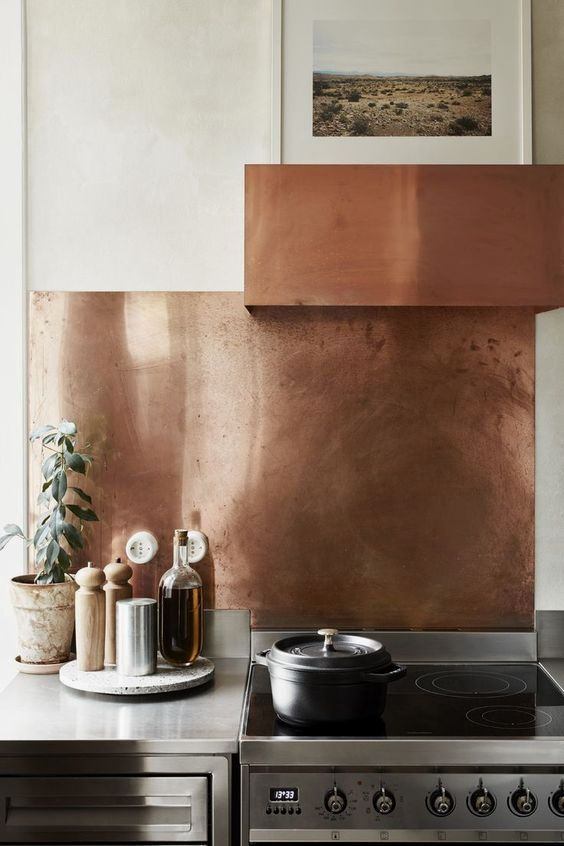 Copper Backsplash In 2019 Home Decor Kitchen Kitchen Interior