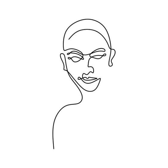 الوجه الإنساني المستمر تقليلية واحدة خط الرسم خلاصة الكبار جمالية Png والمتجهات للتحميل مجانا Line Art Drawings Line Art Line Drawing