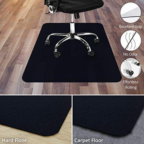 Office Marshal Black Office Chair Mat 48 X 60 Carpet Floor