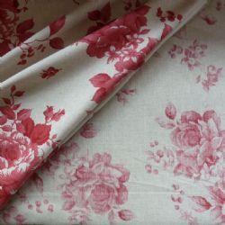 Cretona in Red Reversible Fabric. 4 mts.