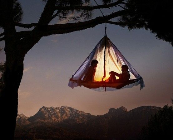 tree tent!: Tree Tent, Bucketlist, Tree Houses, Treehouse, Tree Camping, Extreme Camping, Hanging Tent, Lost Boys, Bucket Lists