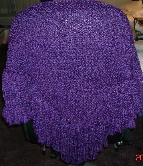 Royal purple shawl.