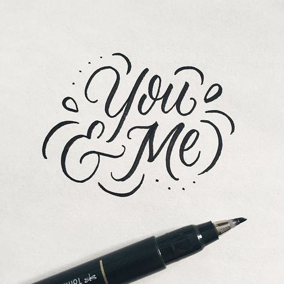 You me lettering by wink wonder typography