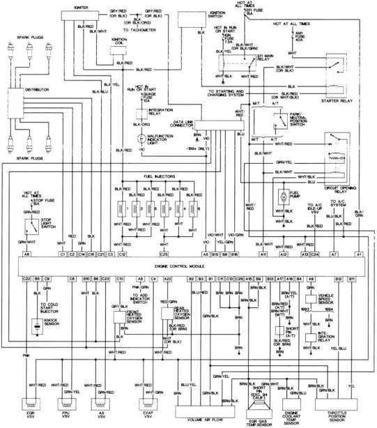wiring diagram for 1995 toyota camry  filter wiring
