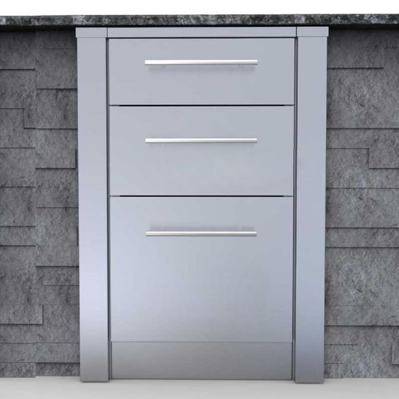 Sunstone 3 Inch Outdoor Kitchen Island Cabinet Right Corner Guard