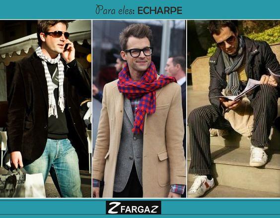 Além de protege do frio, a echarpe é uma peça que está cada vez mais popular entre os homens. Aposte!