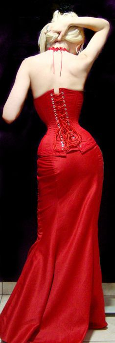 Red Corset Dress, want!!!