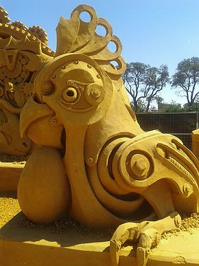 Essential Melbourne Summer Adventure - sand sculpture exhibition. Ann K Addley travel blog