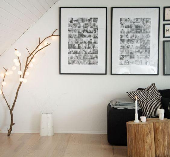 Billedevæg – inspiration til indretning med familiebilleder ...