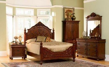 Amazon.com: 5pc Isabella Collection Solid Wood California King Bedroom Set: Furniture & Decor 1700.00