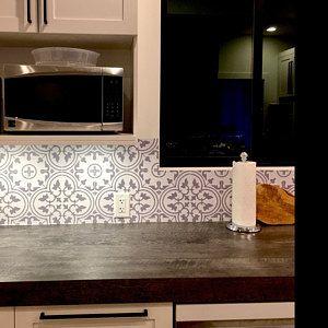 Tile Stickers For Kitchen Backsplash Floor Bath Removable