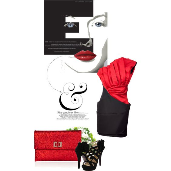 Red Rush, created by #scarlettohara123 on #polyvore. #fashion #style Prabal Gurung Mojo Moxy