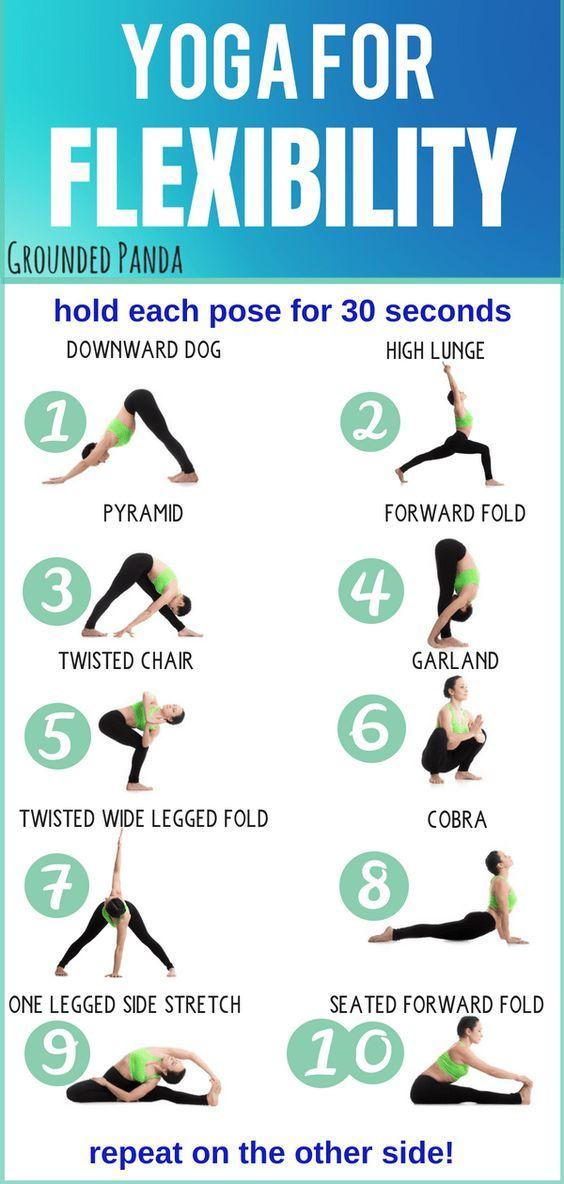 10 Minute Beginner Yoga Routine For Flexibility Free Pdf Yoga Routine For Beginners Yoga For Flexibility Yoga Routine