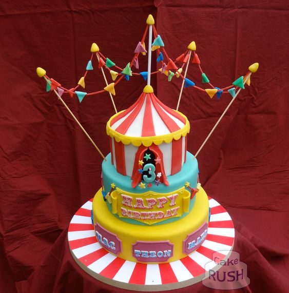 Carnival cake made by the fantastic people at cakerush.co.uk
