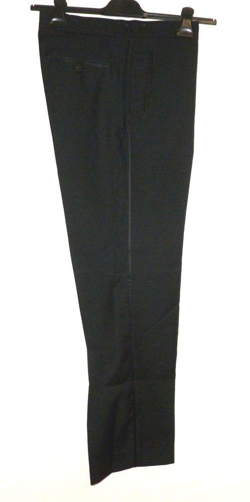 Pierre Cardin Mens Black Suit Trouser in 32R to 42R