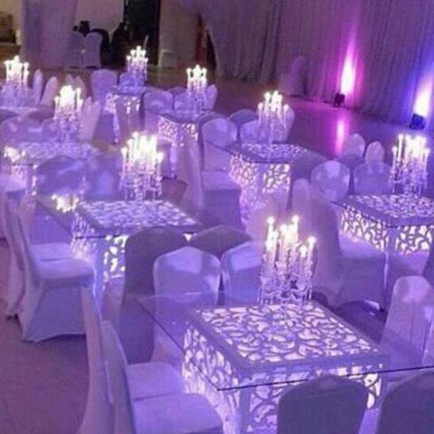 تأجير طاولات مضيئة بالكويت Table Decorations Decor Home Decor