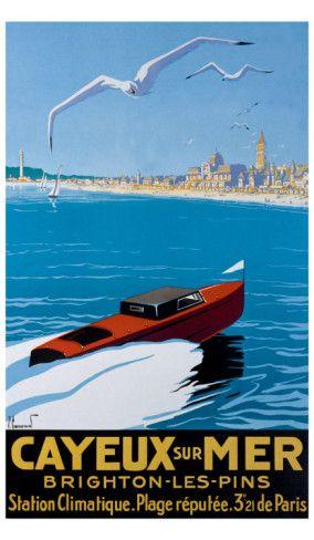 Cayeux-sur-Mer - French Riviera Cote d'Azur France Vintage travel poster #beach #riviera #essenzadiriviera - www.varaldocosmetica.it/en