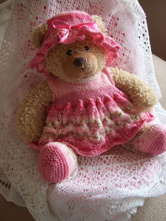 Knitting Pattern For Teddy Bear Clothes : Teddy Bear Clothes Knitting /Crochet Dolls Clothes Pinterest Clothes, B...