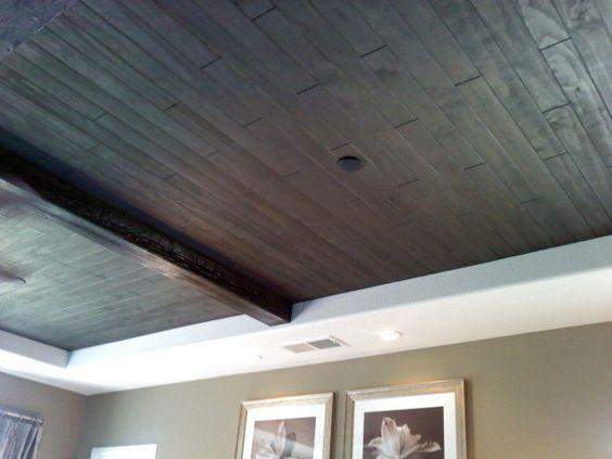 hardwood floor on ceiling