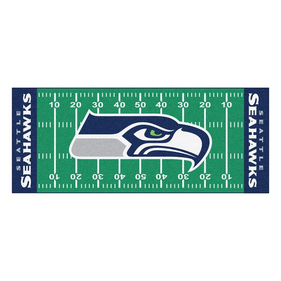 Fanmats Machine-made Seattle Seahawks Nylon Football Field Runner